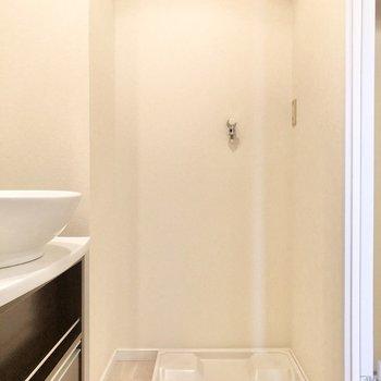 浴室から見た形式。洗濯機置き場は脱衣所に。