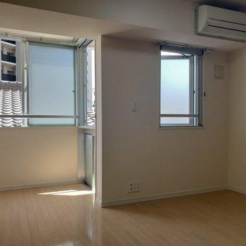 ベッドはクローゼット側かな。※写真は3階の同間取り別部屋のものです