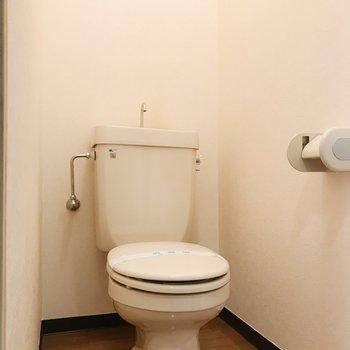 個室トイレは落ち着く空間です。