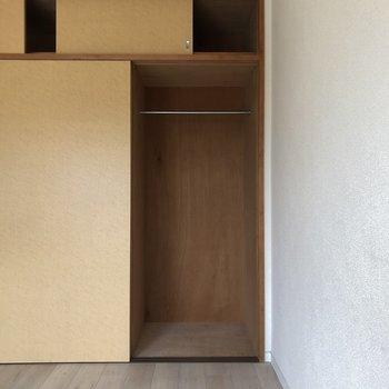 【洋室6.2帖】コンパクトな収納ありますよ。※写真は通電前のものです