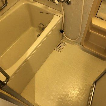 身体を洗うスペースも◎湯船で癒やし時間♪