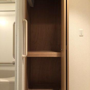 脱衣所にも収納スペースありますよ!※写真は前回募集時のものです