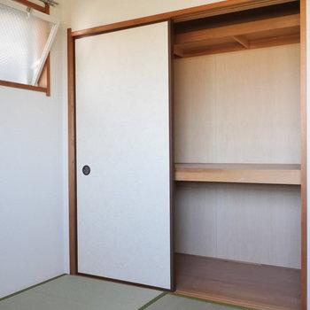 【和室】押入れ収納もありますよ。※写真は前回募集時のものです