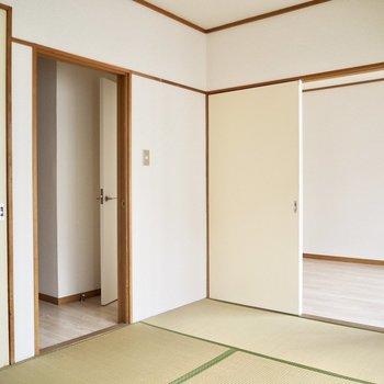 【和室】引き戸を開けると少し広く感じますね