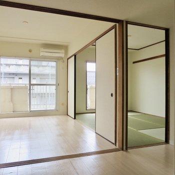 洋室と和室をどちらも取り込んだお部屋※ 写真は前回募集時のものです