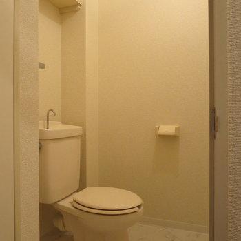 トイレはゆとりがあって、ひろーいです