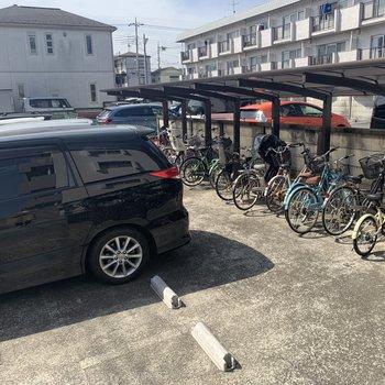 駐輪場・駐車場ありますよ〜