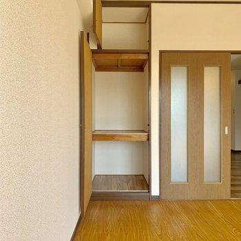 【洋室6帖】収納スペースがあるので片付けもしやすい!