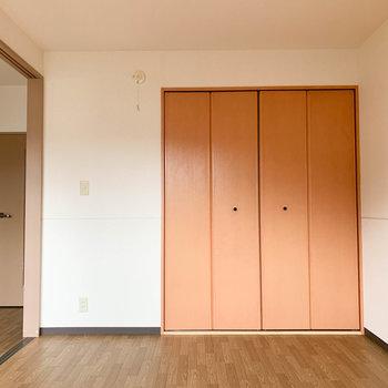 【洋室6帖】バルコニー側から見ると、収納が。