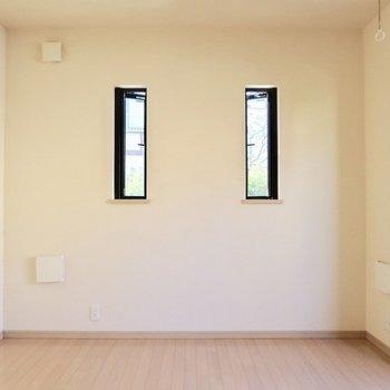 2つ並んだ小窓がかわいい