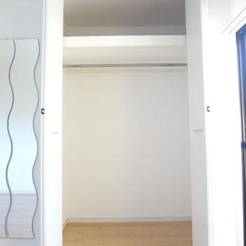 収納スペースもしっかりと。※写真は別室の間取りが違う部分がございます