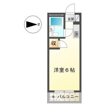 シンプルなワンルームのお部屋です。