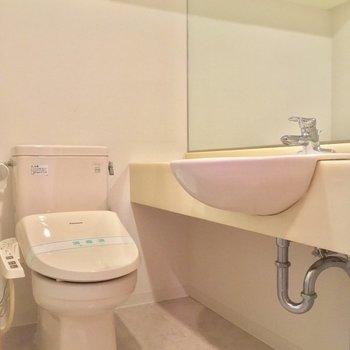 トイレと洗面台は脱衣所の中です