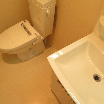 トイレと洗面台は同じ場所に
