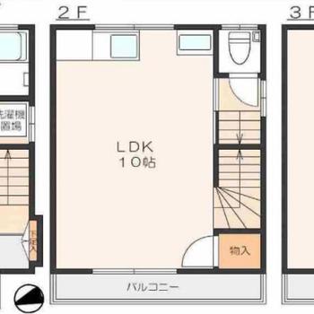 3階建ての1LDK