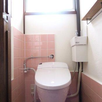 トイレはピンク