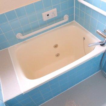お風呂は水色!