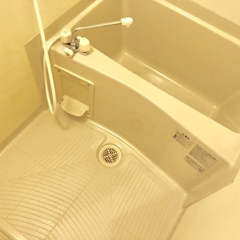 身体を洗うのもばっちりスペース確保