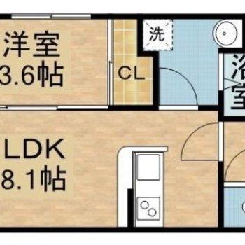長方形のお部屋です。