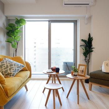 爽やかな洋室です◎※写真は7階の同間取り別部屋のものです。
