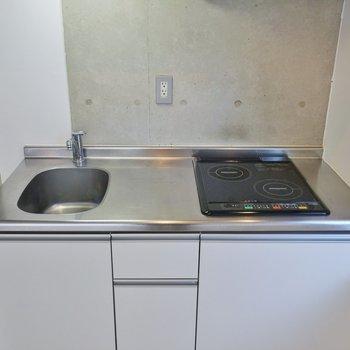 調理スペースもしっかり確保※写真は3階のお部屋のものです。