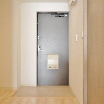 広めの玄関スペース。※写真は同タイプ別部屋のものです。
