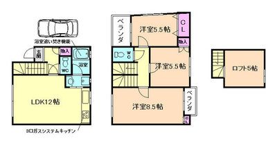 渋谷3丁目貸家 の間取り
