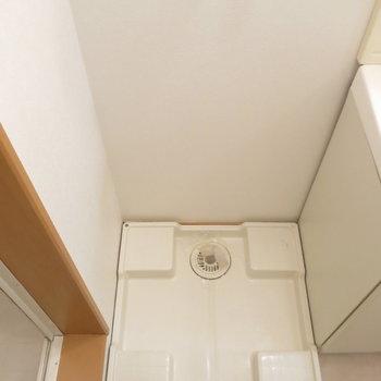 洗濯機は洗面台横へ〜