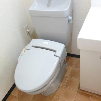 アメセパタイプのトイレ!(※写真はクリーニング前のもの)