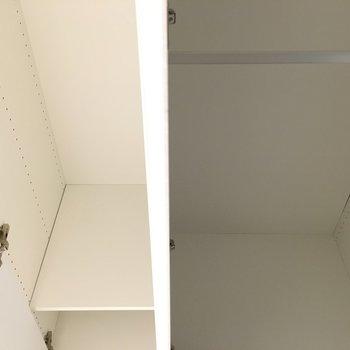 洋室横のクローゼット。奥行きかなりあります。※写真は3階の同間取り別部屋のものです