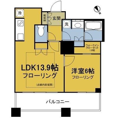 ザ・パークハウス西新宿タワー60 の間取り