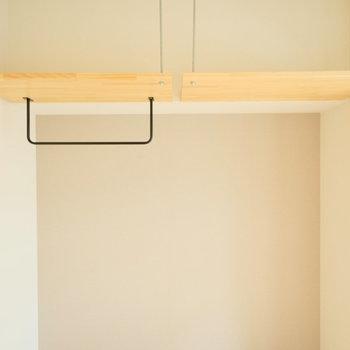 吊り棚収納を使って収納上手に。