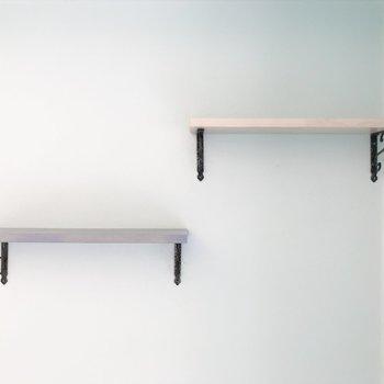 高さの違う棚を上手に使って。