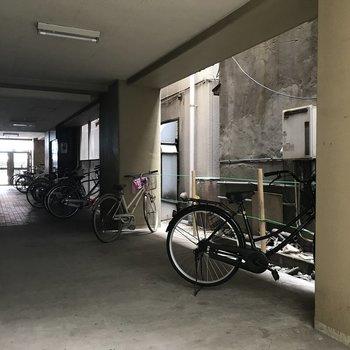 もちろん駐輪場も。