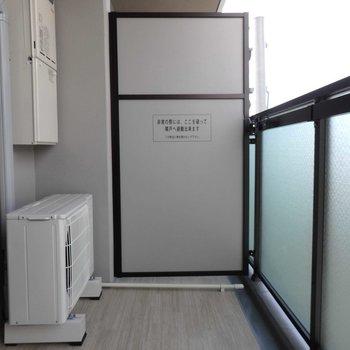 たくさん洗濯物も干せそう。(※写真は13階の反転間取り別部屋のものです)