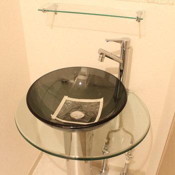 お洒落な洗面台!