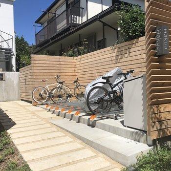 自転車も置けますね!