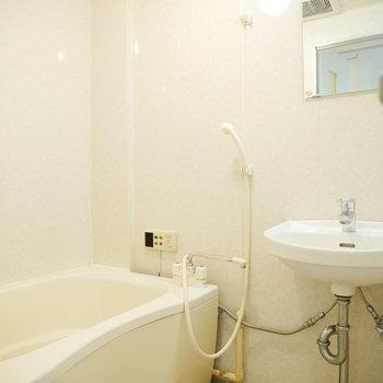 洗面台と浴室は同じお部屋