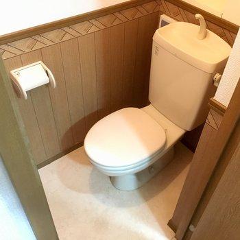 トイレはシンプルなタイプ。(※写真は清掃中のものです)
