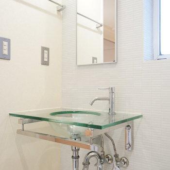 洗面台も良いデザイン◎※写真は前回募集時のものです。