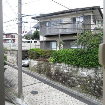 2階小窓からの眺め〜