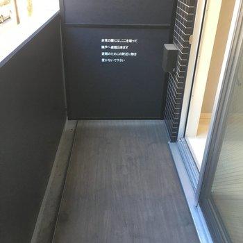 バルコニーです。※写真は2階の同間取り別部屋のものです