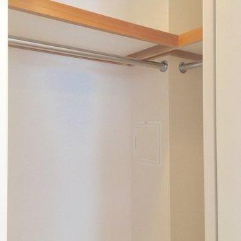 小さめのウォークイン?容量たっぷりだよーん ※写真は2階の反転間取りのお部屋です。