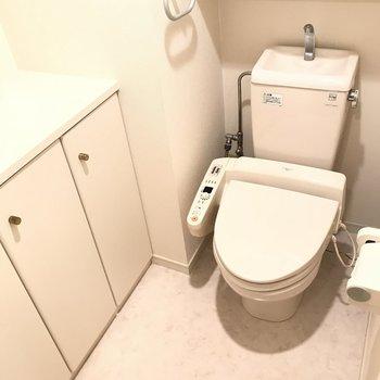 トイレにまで収納スペースが!