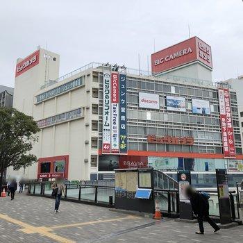 駅まで行くと大型の商業施設もあり、買い物には困らなさそうです