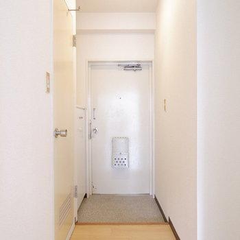 玄関スペースも十分ですね。