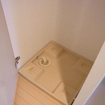 洗濯機、隠せます。※写真は6階の似た間取りのお部屋