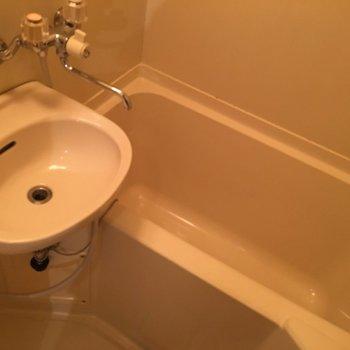 お風呂はシンプルなもの。※写真は前回募集時、モデルルームのものです
