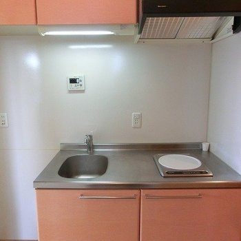 心躍るかわいいサーモンピンク※写真は反転間取り別部屋のものです。