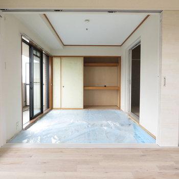 和室は工事中ですがきっと綺麗な畳が